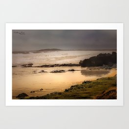 Stormy Day At Gallows Beach Art Print