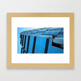 Blue Rocket Framed Art Print
