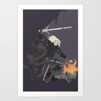 Kill them all Geralt! Art Print