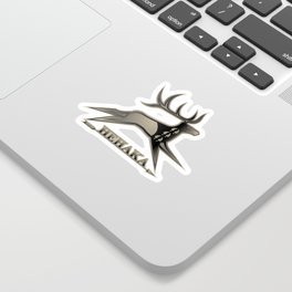 Elk Spirit (Gray) Sticker
