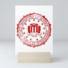 FBI Rubber Stamp Mini Art Print