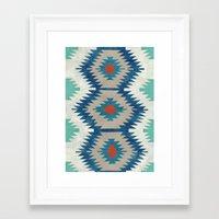 kilim Framed Art Prints featuring kilim I by Amylin Loglisci