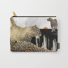 Minimal Leopards Carry-All Pouch