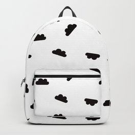 Puffy Clouds in White Backpack