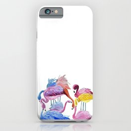 Flamingo Love iPhone Case