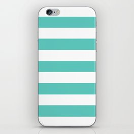 Bayside - solid color - white stripes pattern iPhone Skin