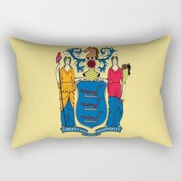 Flag new jersey, america,usa,northeastern,Jerseyan, Jerseyite,Garden State,newark,Paterson,Elizabeth Rectangular Pillow