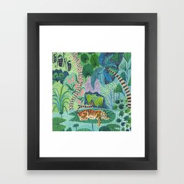 Jungle Tiger Framed Art Print