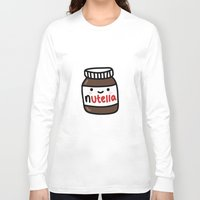 nutella Long Sleeve T-shirts featuring Nutella by Iotara