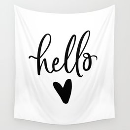 HELLO LOVE by DearLilyMae Wall Tapestry