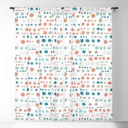 Turquoise blue polka dot circles Blackout Curtain