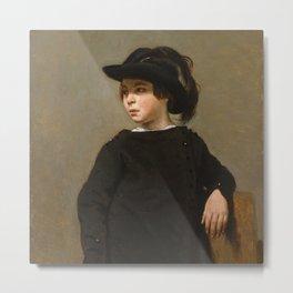 "Jean-Baptiste-Camille Corot ""Portrait of a Child"" Metal Print"