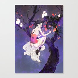 A Flight in the Night Canvas Print