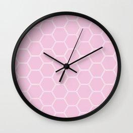 Honeycomb Light Pink #326 Wall Clock