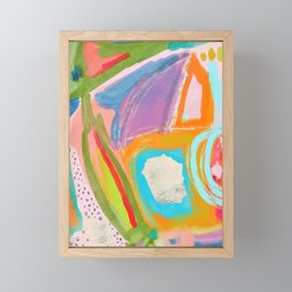 Shapes and Layers no.18 - Abstract Painting Tropical Framed Mini Art Print