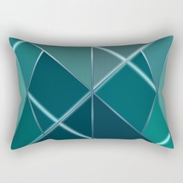 Mosaic tiled glass with black rays Rectangular Pillow