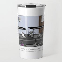 Control Group Lab Mice Cartoon Travel Mug