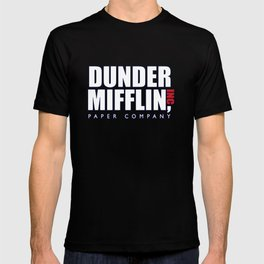 Dunder Mifflin The Office Logo,white T-shirt