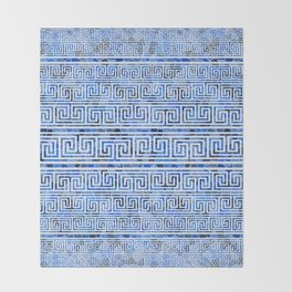 Greek Meander Pattern - Greek Key Ornament Throw Blanket