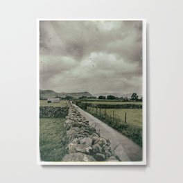 Along the road in the Cotswolds - Old style photograph Metal Print