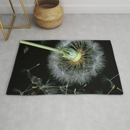 Dandelion Seeds Blowing in the Wind, Scanography Rug