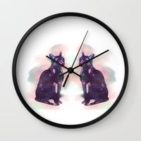 egyptian Wall Clocks featuring Egyptian cat  by Vita♥G