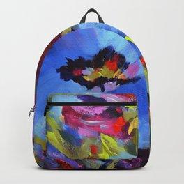 Wild Blue Poppy Garden Backpack