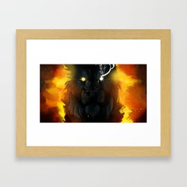 A rotting wound in the flesh of nature Framed Art Print