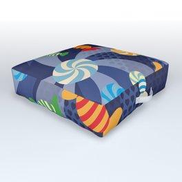 Rainbow Sugar Crush Outdoor Floor Cushion