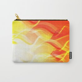 Theme of fire for the banner. Bright red and orange glare on a gentle background for a fabric or pos Carry-All Pouch