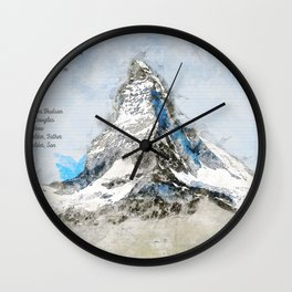Matterhorn, Switzerland Wall Clock