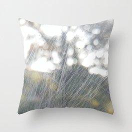 window scratch abstract Throw Pillow