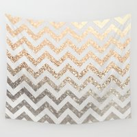 gatsby Wall Tapestries featuring GOLD & SILVER  by Monika Strigel