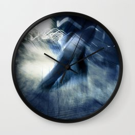 blue rush hour melodrama Wall Clock
