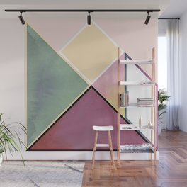 Tangram Square Six Wall Mural