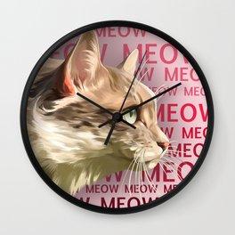 Meow Meow Wall Clock