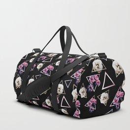 Rose quartz and pink tourmaline dark geometric garden Duffle Bag