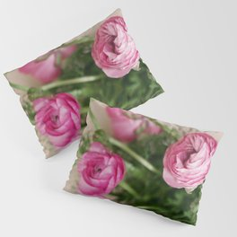 Pink Ranunculus Pillow Sham