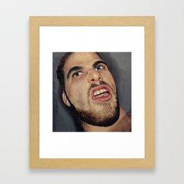 self portrait, annoyance and disgust Framed Art Print