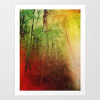 Eye of the forest Art Print
