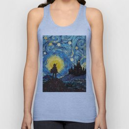 triforce warrior link starry night iPhone 4 5 6 7 8, pillow case, mugs and tshirt Unisex Tank Top