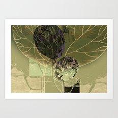 The green tree Art Print