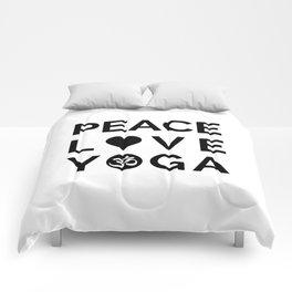 Peace Love Yoga Comforters