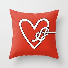 love me knot Throw Pillow