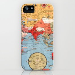 Map Of World War 2 iPhone Case