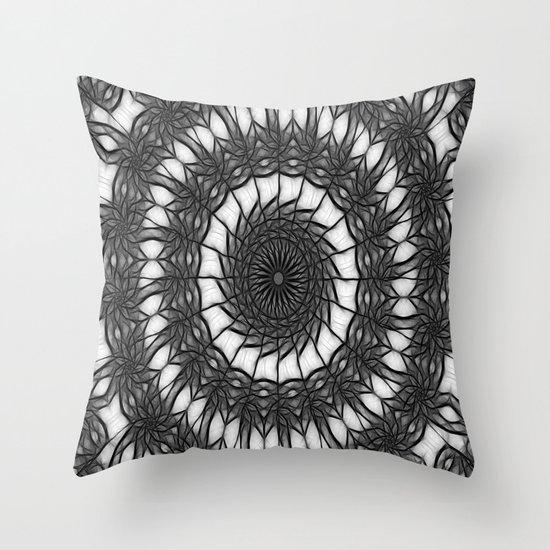Gray Kaleidoscope Art 14 Throw Pillow