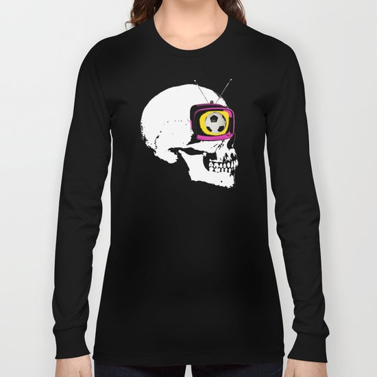 Football Mind - a round thing in the TV eye v1 Long Sleeve T-shirt
