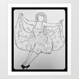 Falling Femme. Art Print