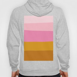 Abstract Organic Color Blocking in Pink and Honey Gold Hoody