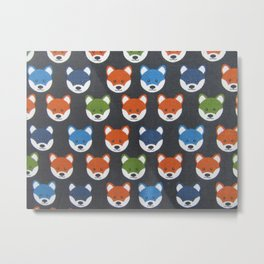 The Fox says Metal Print